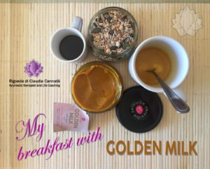Golden Milk breakfast
